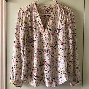 Rebecca Taylor Floral Blouse 100% Silk